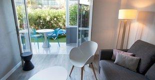 Apartamento a1 jardín privado y vista piscina Hotel Coral Compostela Beach Golf
